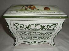 Early Huntley & Palmers Nursery Rhymes Biscuit Casket By Royal Doulton