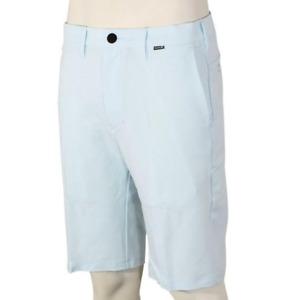 "HURLEY Dri-Fit Cutback 21"" Stretch Shorts- 33- NEW- lightweight blue nike chinos"