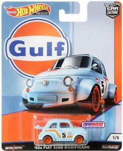 Hot Wheels Premium Car Culture Gulf - 60s Fiat 500D Modificado