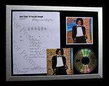 MICHAEL JACKSON Don't Stop Get Enough QUALITY CD FRAMED DISPLAY+FAST GLOBAL SHIP