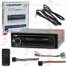 BLAUPUNKT DETROIT 100BT 1-DIN CD MP3 BLUETOOTH CAR STEREO FREE 3.5mm AUX CABLE