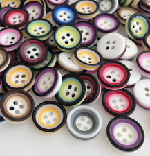 Resin Round Mixed Lot Sewing Buttons