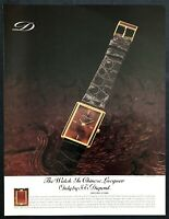 "1983 S.T. Dupont Chinese Lacquer Watch photo ""Classic Design"" vintage print ad"
