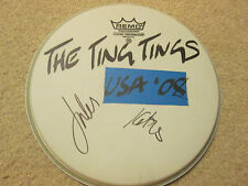 "The Ting Tings SIGNED 10"" WHITE REMO DRUMHEAD"