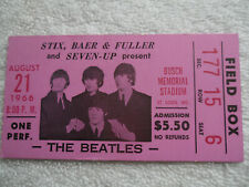 THE BEATLES 1966 Original__CONCERT TICKET STUB__St. Louis, MO__EX++