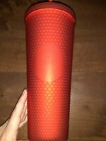 Starbucks NEW W TAG 2020 Matte Red Studded Tumbler Cup VERY HARD TO FIND