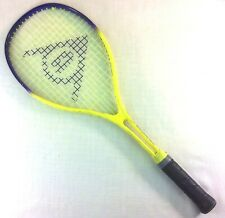 "DUNLOP Power Mini Squash Racket 184 Gram 16/18 Pattern 22"" Long Yellow Purple"