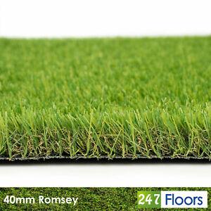 40mm Artificial Grass ONLY £8.99/m²!  Romsey Garden Fake Grass Astro Turf 2m 4m