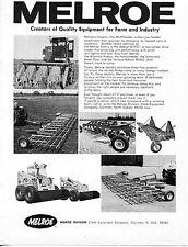 1970 Dealer Print Ad of Melroe Bobcat M907 & M600 Multiheader Tractor Attachment