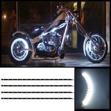 "4pcs 12"" White 15 SMD LED waterproof motorcycle LED strip lights underglow #B1"