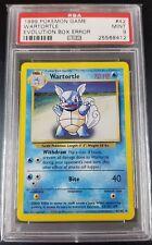Pokemon PSA 9 Wartortle Evolution Box Error 42/102 Base Set! Rare!
