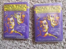 2 Unopened Star Trek 1979 Topps The Motion Picture Package With Cards And Gum