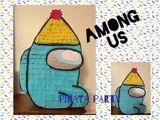 Among Us Piñata Personalised Party Games  Birthday Party Smash Kids Many Colou