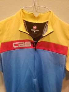 Castelli Men's Cycling Jersey SS Adult Medium Half Zipper Multicolor