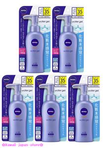 NIVEA SUN Protect Water Gel Sun Screen Pump SPF35 PA+++ 140g x 5 lot from Japan