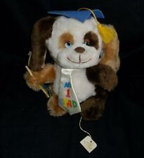 "9"" VINTAGE RUSS BERRIE CO NO # 1 GRAD BROWN PUPPY DOG STUFFED ANIMAL TOY PLUSH"