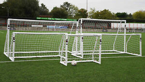 Precision Match football PVC goal posts - for games home garden - various sizes