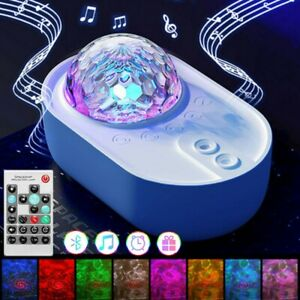 LED Star Projector Colorful Galaxy Starry Night Light Lamp Ocean Wave Projection