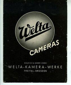 Welta  Cameras   Faltblatt  8  Seiten  1938  140180mm