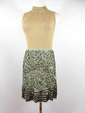 ZARA Women's Boho Sequin Skirt Lace Jewel Beads Sexy Embellished Party sz S BI17