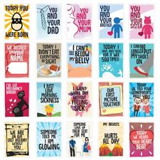 Pregnancy Milestone Cards Funny & Colourful - Pack of 40 Friend Sister gift !