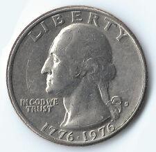 1776-1976 Bicentennial Washington Quarter 25 Cent Coin Cirulated Ungraded Good