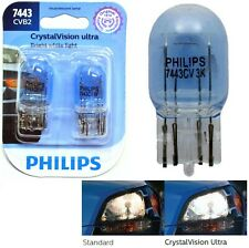 Philips Crystal Vision Ultra Light 7443 25/5.5W Two Bulbs Brake Stop Tail OE Fit