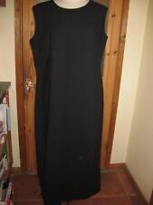 Round Neck Patternless Work Sleeveless Dresses for Women