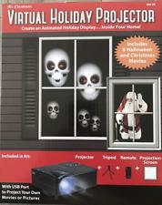 Halloween Animated Holiday Video Window Display Projector Kit Mr. Christmas NEW
