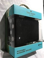 kate spade new york Portable Bluetooth Speaker- Black / Cream Dots BRAND NEW !!