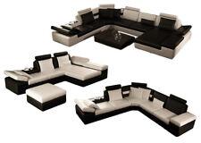 Cuero Conjunto de Muebles para Salón Sofá Esquinero Diseñador Lujo K5014