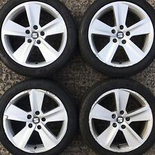 "Set 4 Genuine Seat Leon 17"" Alloy Wheels FR Altea Exeo 5 spoke tyre 225 45 rims"