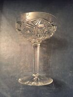 Antique Baccarat Crystal - LAGNY Champagne Saucer - Tall Sherbet Glasses FRANCE