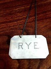 "He Ji? Chinese Export Sterling Silver Bottle Tag ""Rye"""