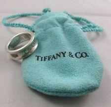Auth. TIFFANY & Co Sterling Silver Band Ring 1997 Size 4.5 MINT CONDITION Pouch