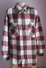 VTG Childs Boys J.F.GEE Burgundy Multi Flannel Longsleeved Shirt Age 11-12