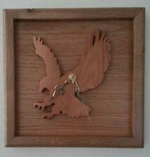 Wooden clock, Eagle clock, made from Pnw cedar, with maple frame.
