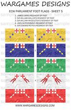 15mm ECW Parliament Foot Flags Sheet 5 - Pike & Shotte, FOG, DBR, WECW, Baroque