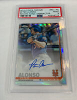 2019 Topps Chrome Rookie Auto Pete Alonso Refractor /499 RA ROTY  PSA 9  Mets