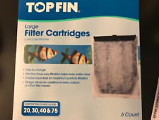 1 box of 6 Top Fin Large 20,30,40&75  AUTHENTIC cartrid (assemble), free ship
