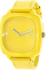Nixon A167640 de Mujer Dial Amarillo Correa de piel Reloj de Pulsera Analógico