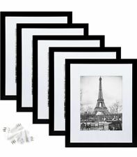 New Listing11x14 Picture Frame Set of 5 Display Pictures 8x10 with Mat or 11x14 Without Mat