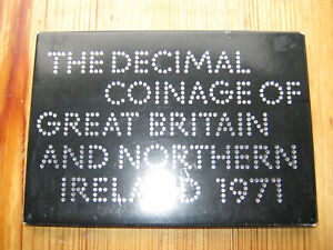 Royal Mint 1971 coinage of Great Britain decimal proof coin set