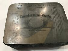 Lithograph Printing Stone 1900's Escambia County Florida, Bank Of Cocoa  (T7)