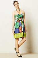 Pavot Halter Dress Size M, Floral Beach Party Cocktail Sundress By Anthropologie