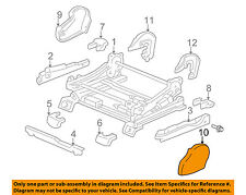 TOYOTA OEM 01-04 Sequoia Seat Track-Track Cover Left 718120C030B0