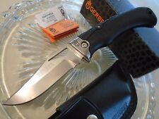 Gerber Gator Premium Pocket Knife 0870617B S30V Lockback w Leather Sheath USA