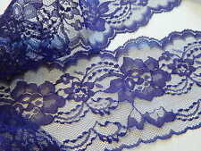 """PURPLE LACE 4"""" wide 5 YDS., FLAT LACE, WEDDING, RUNNERS, BOWS,INVITATIONS"""