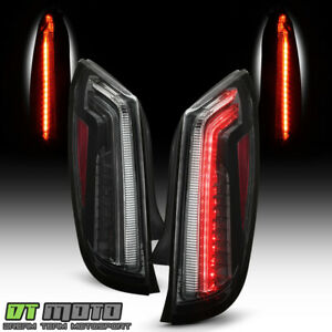 2013-2017 Cadillac XTS Black LED Tail Lights Brake Lamps Replacement Left+Right
