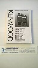 MANUALE IN INGLESE istruzioni d'uso per KENWOOD TH-K2AT